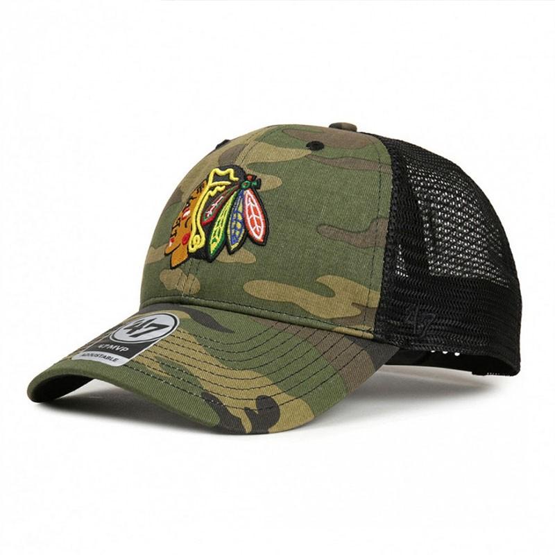Кепка 47 Brand NHL CHICAGO BLACKHAWKS CAMO BR (H-CBRAN04GWP-CM)